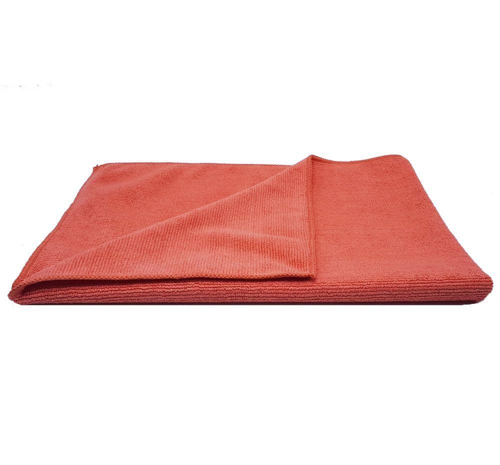 Kit Com 100 Unidades Flanela De Microfibra Com Costura 340Gsm Vermelha 40x60 Protelim