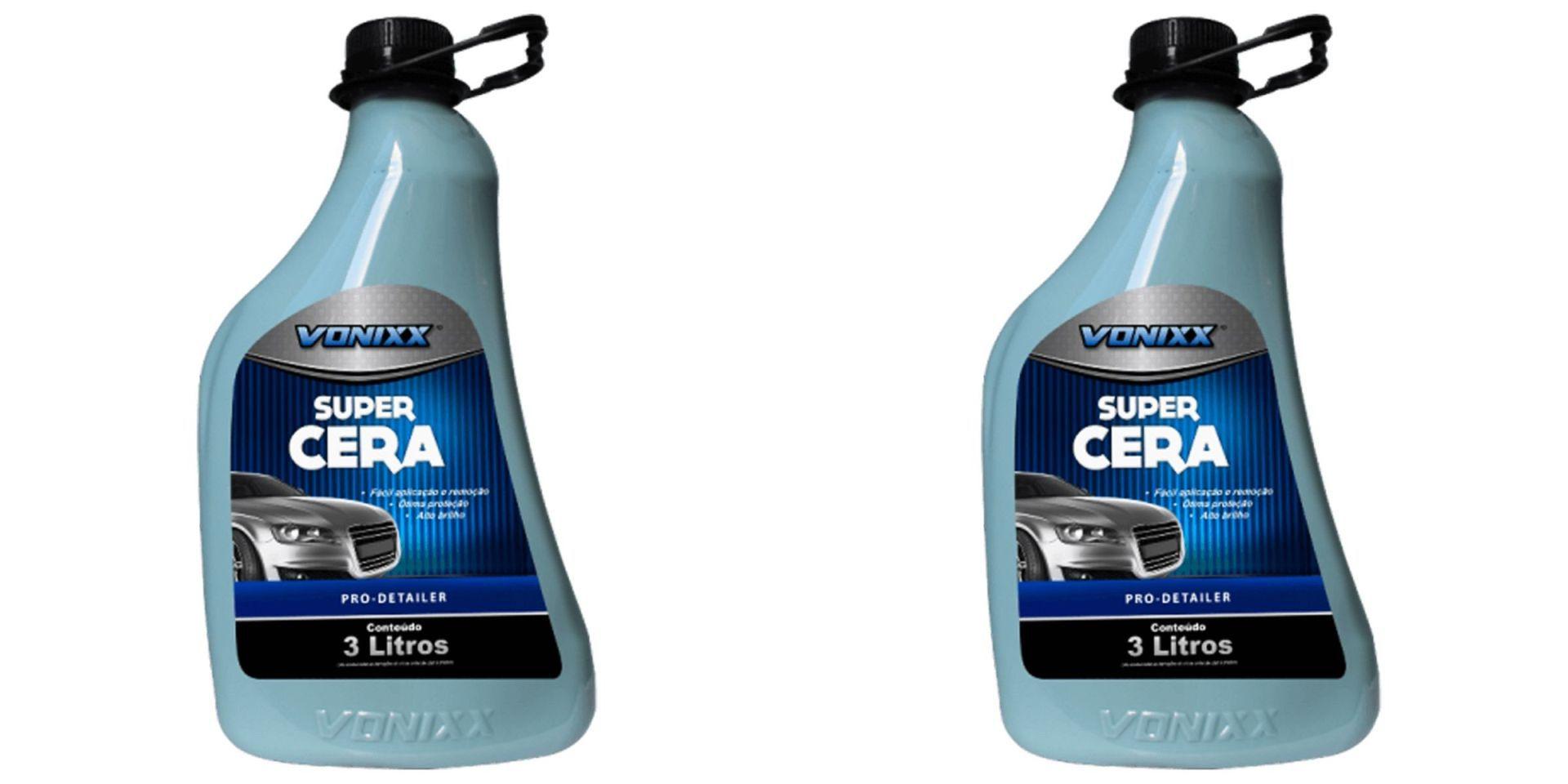 Kit Com 2 Unidades Super Cera Liquida 3L Vonixx