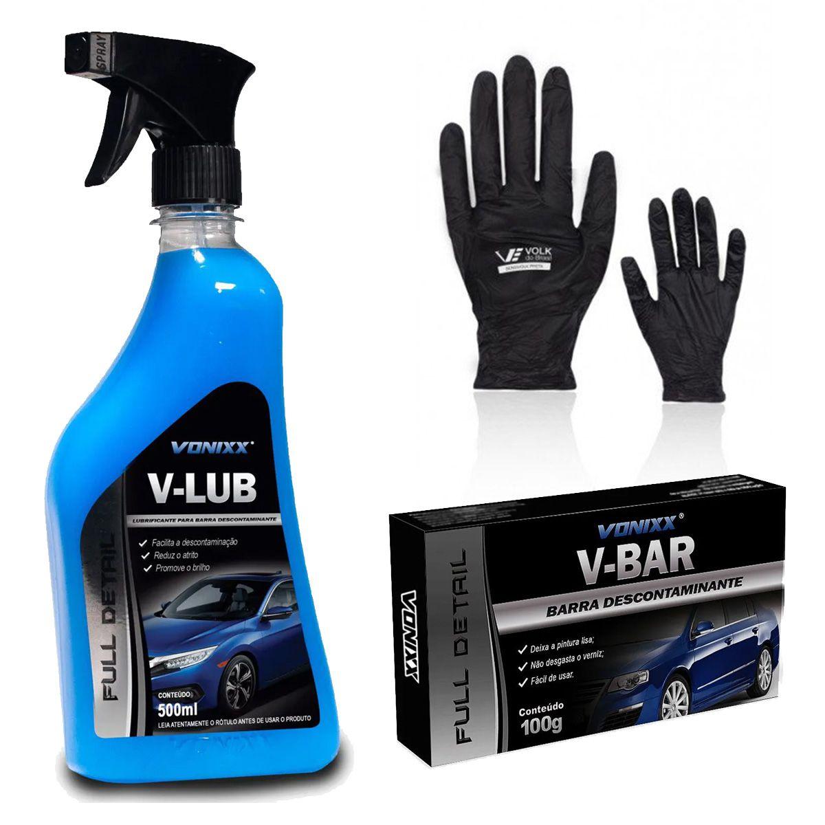 Kit de Descontaminação para Pintura V-Lub + V-Bar + Luva Sensivolk