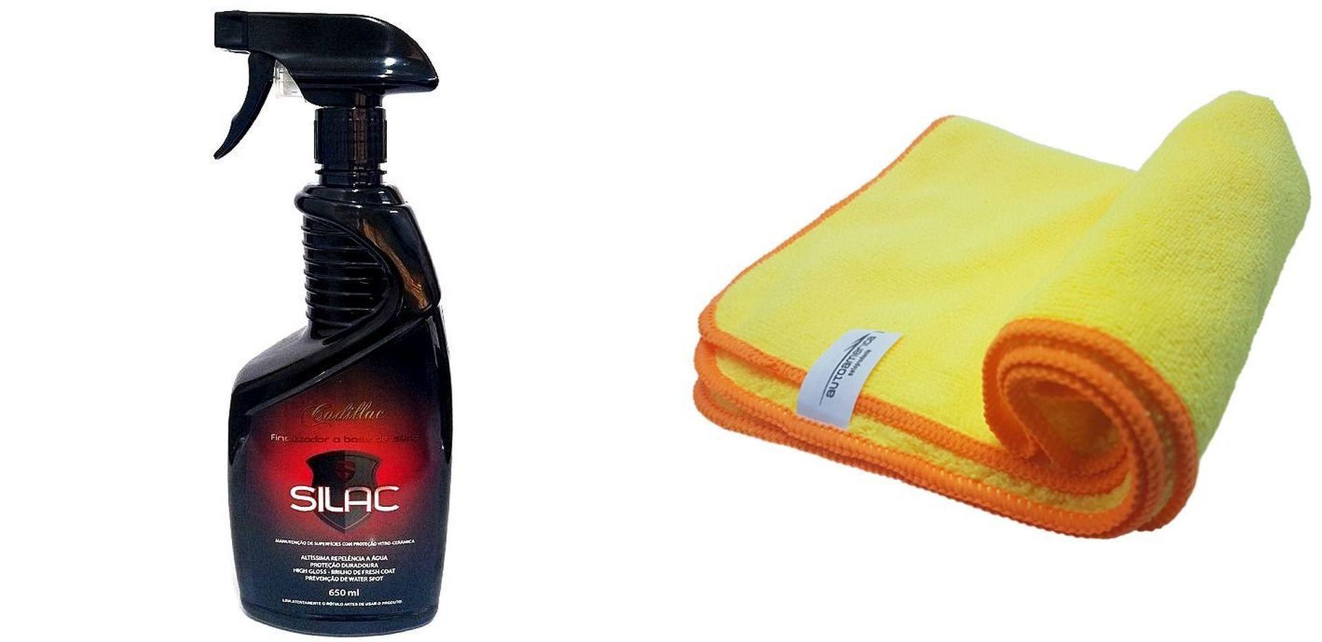 Kit Finalizador Silac + Flanela de Microfibra 60X40 (Sem Embalagem)