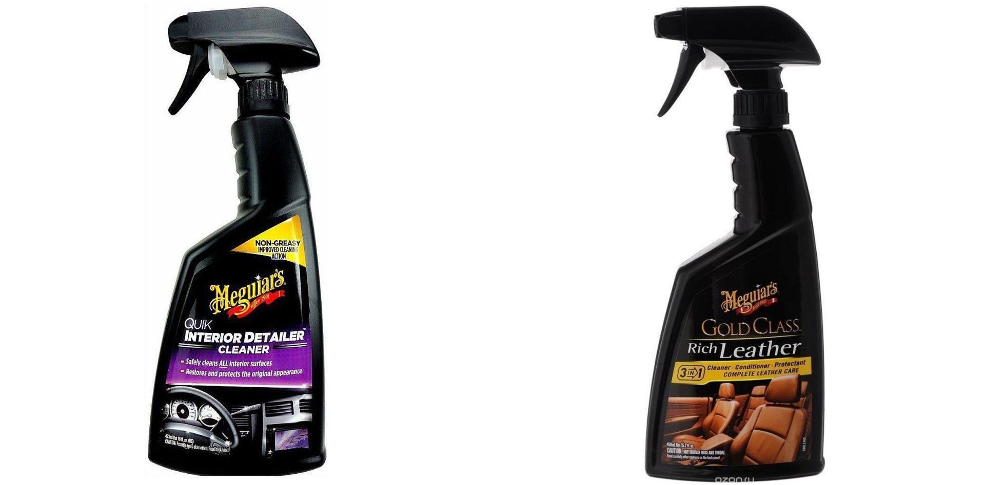 Kit Hidratante de Couro Gold Class Spray 473ml+ Quick Detailer 473ml