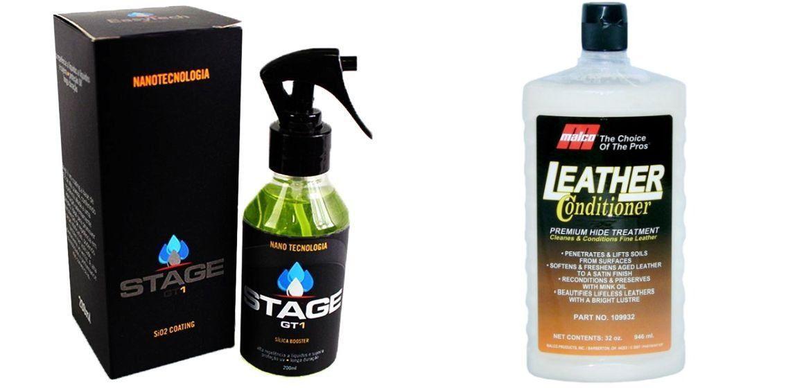Kit Hidratante Leather Conditioner+ Manutenção para Vitrificador Gt1 Stage