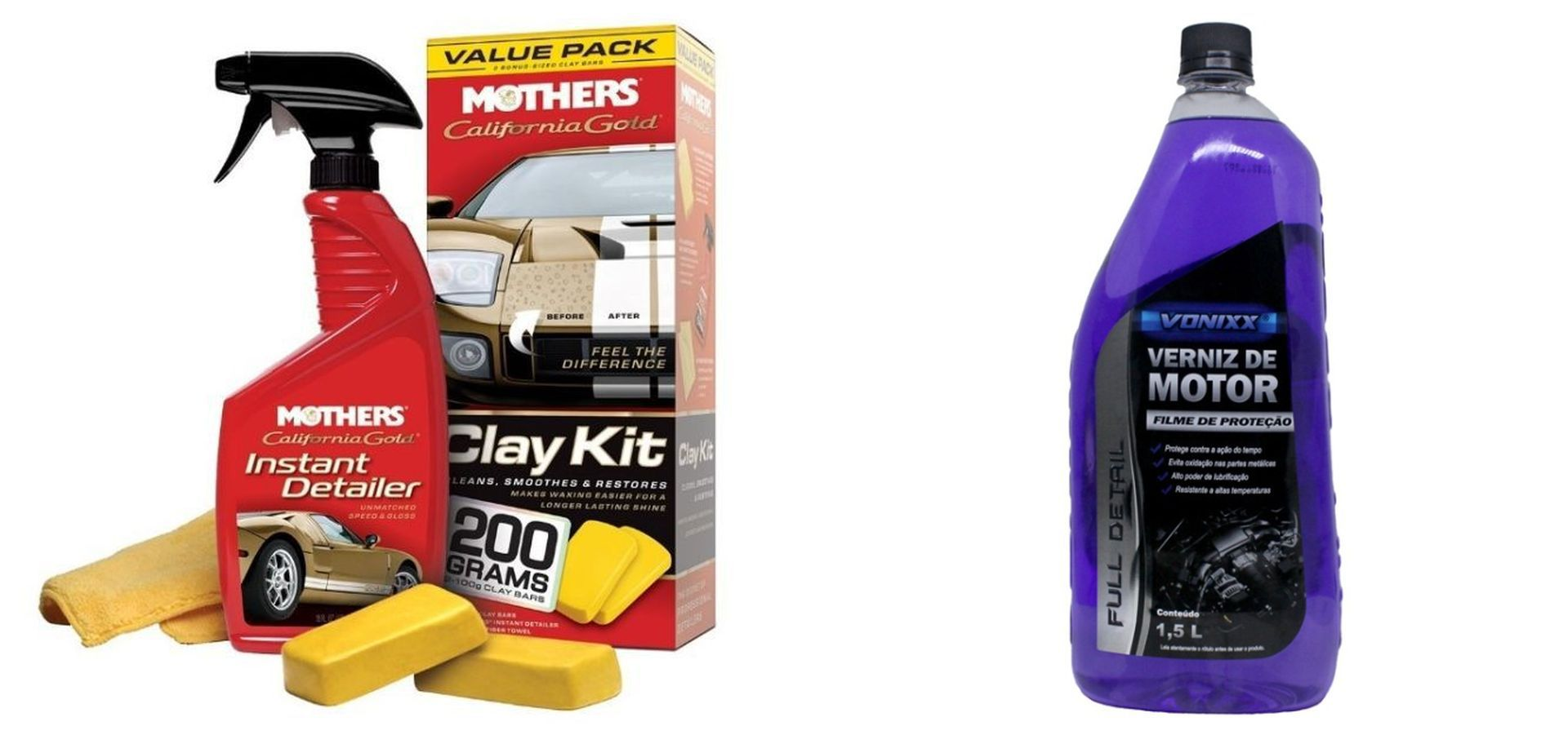 Kit Kit Clay Bar California Gold+ Verniz de Motor