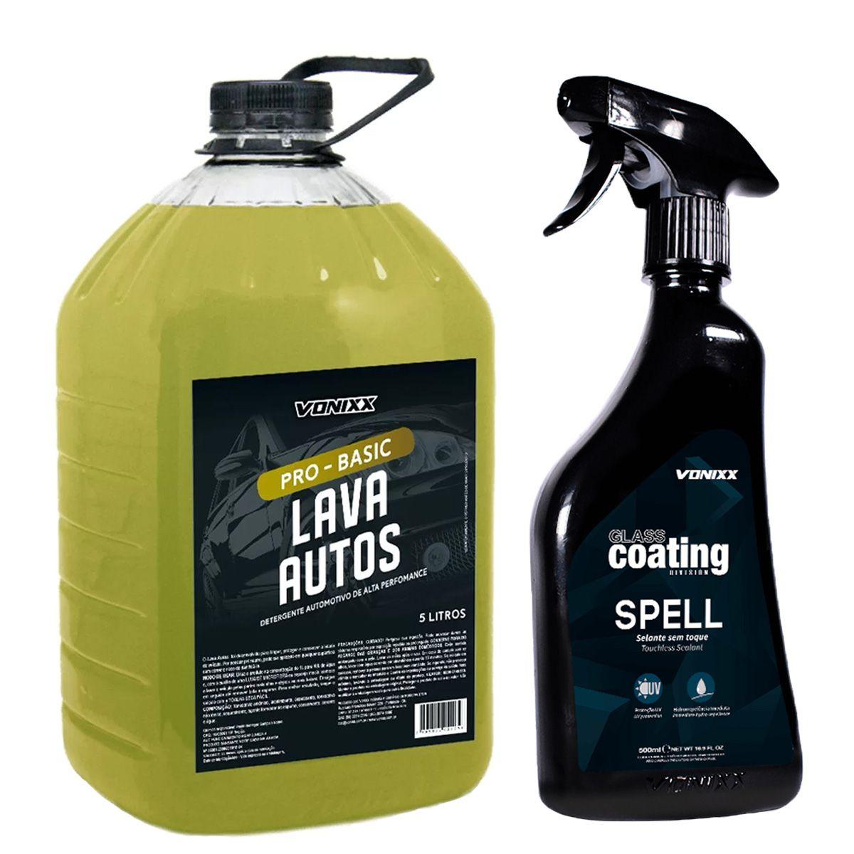 Kit Lava Autos 5 Litros + Selante Spell Brilho e Proteção Vonixx