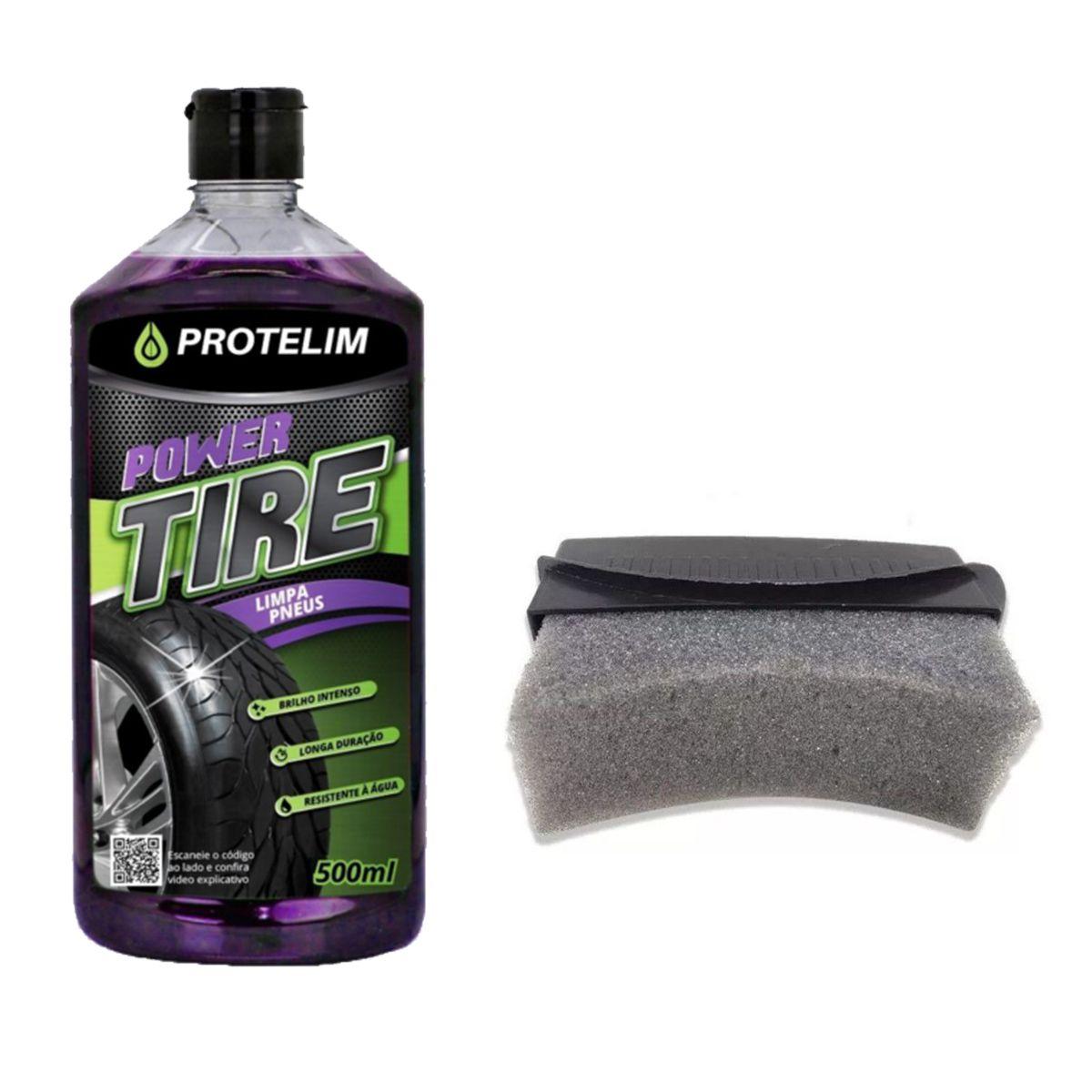 Kit Limpa Pneus Power Tire 500ml Protelim + Aplicador