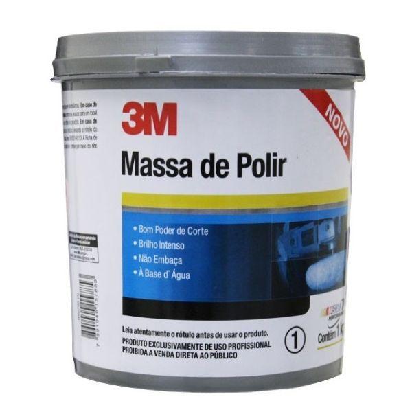 Kit Massa de Polir+ 2 Lixas 1200 Dagua+2 Lixas 2000 Dagua 3M