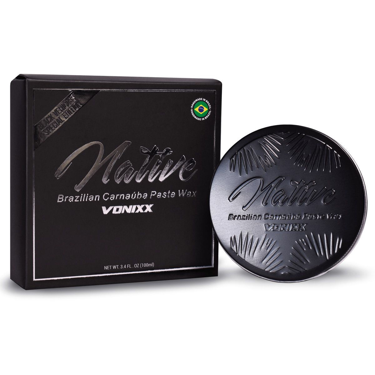 Kit Native Paste Wax Black 100ml+Cera Native Cleaner Wax 473ml