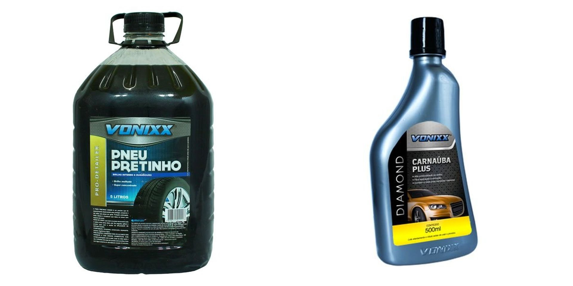 kit Pneu Pretinho+Cera de Carnauba Plus Diamond