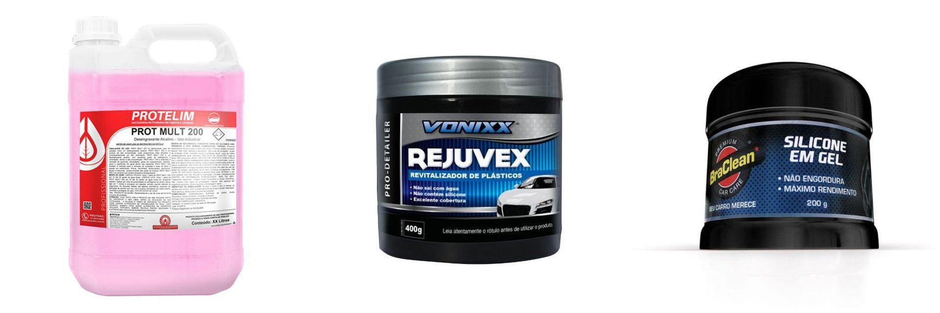 kit Rejuvex+ Prot Mult 200+ Silicone em Gel Premium Car