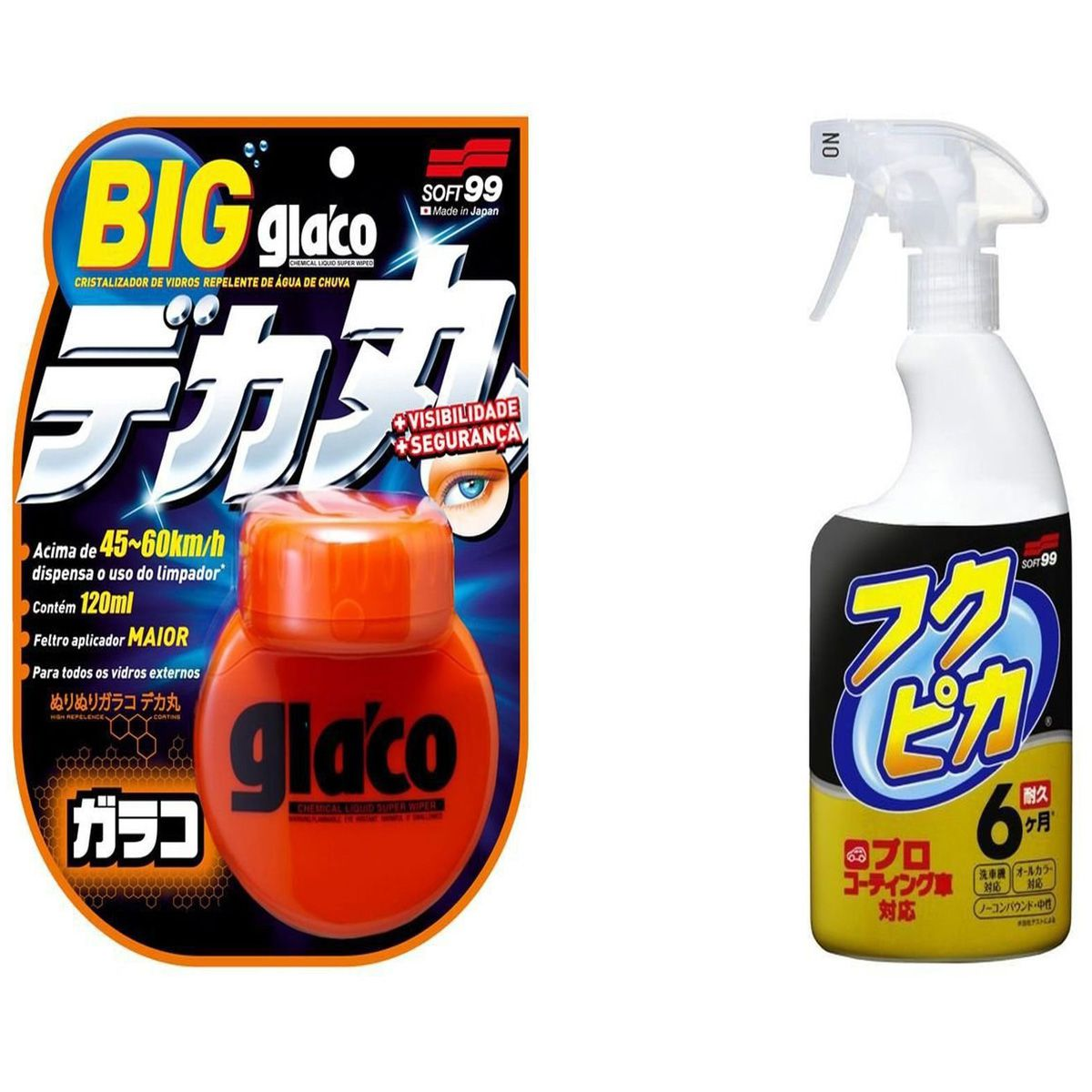 Kit Repelente Glaco 120ml + Fukupika 400ml Soft99