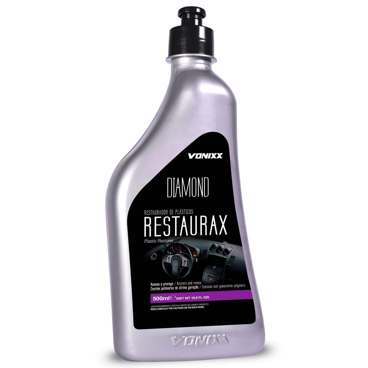 Kit Restaurax+Clay Bar+Espuma+Flanela+Restaurador+Chrome Polish