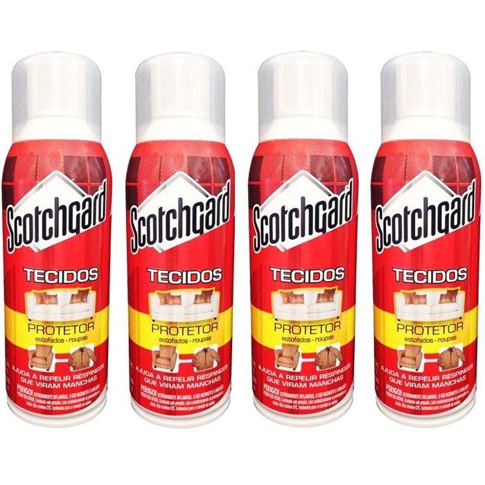 Kit ScotchGard Protetor de Tecidos 353ml com 4 Unidades 3M