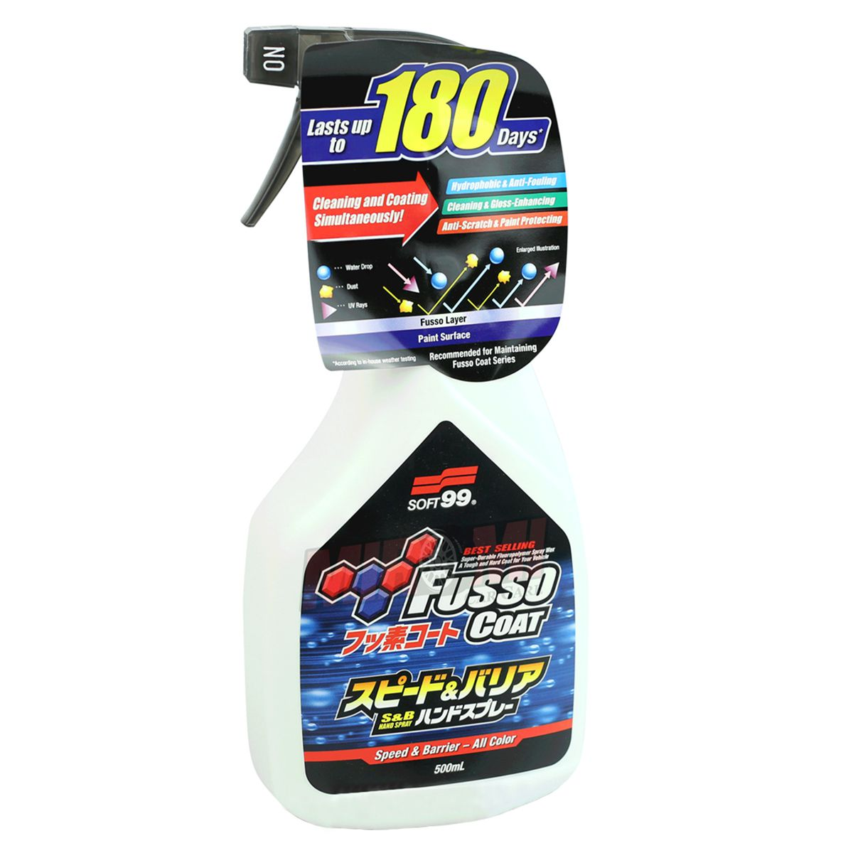 Kit Selante Fusso Speed Barrier+Pretinho Black Magic Soft99