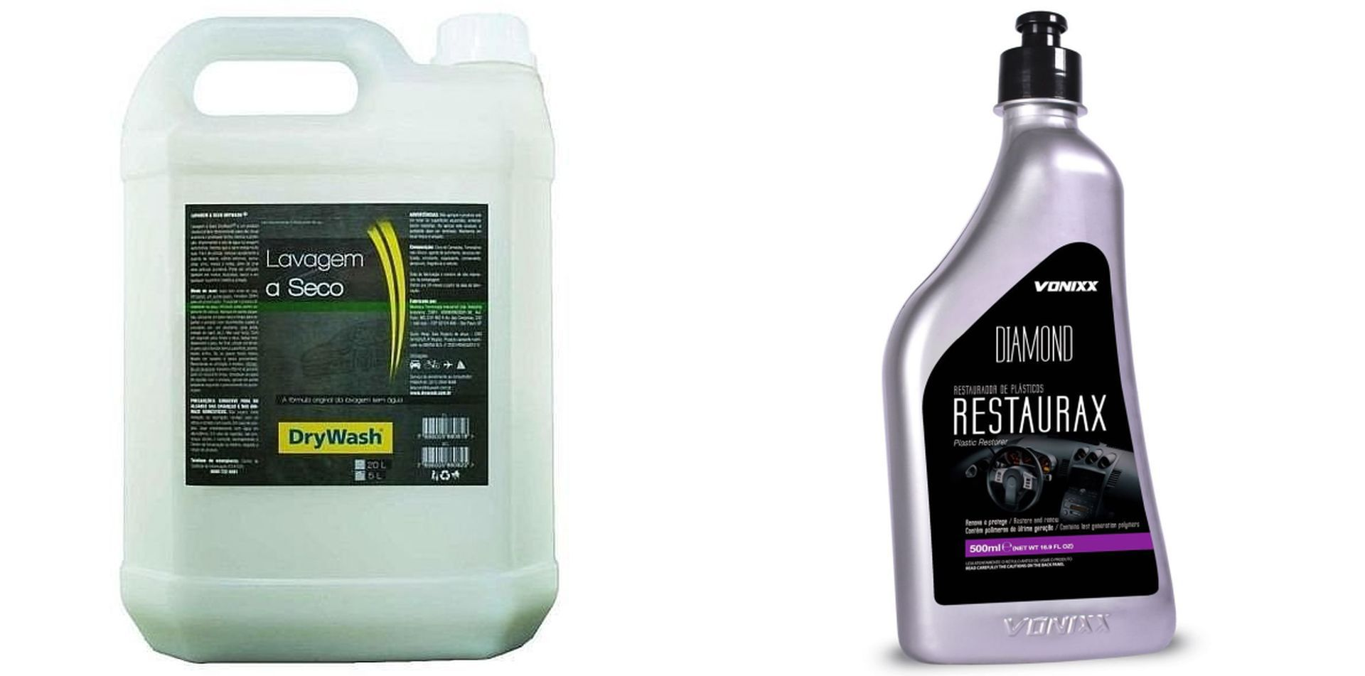 Kit Shampoo Lavagem A Seco 5l + Restaurax 500ml