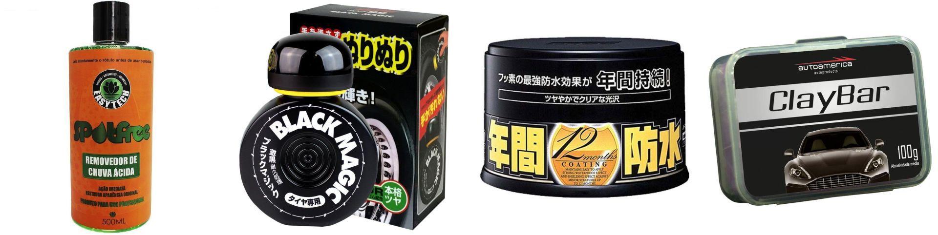 Kit Spotfree + Pretinho Black Magic + Fusso Black+ Clay Bar