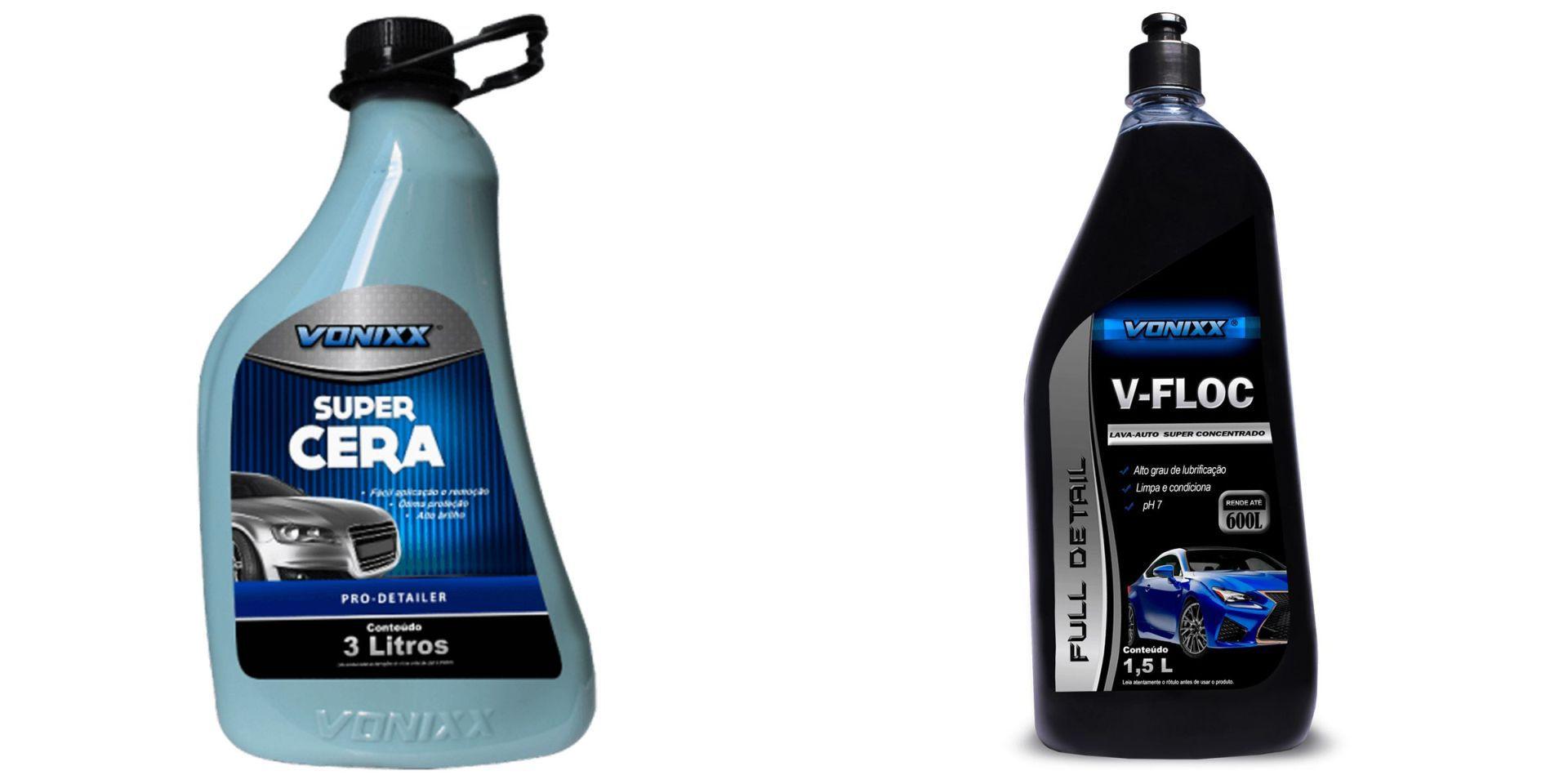Kit Super Cera Liquida 3L, Lava-Auto V-Floc Vonixx