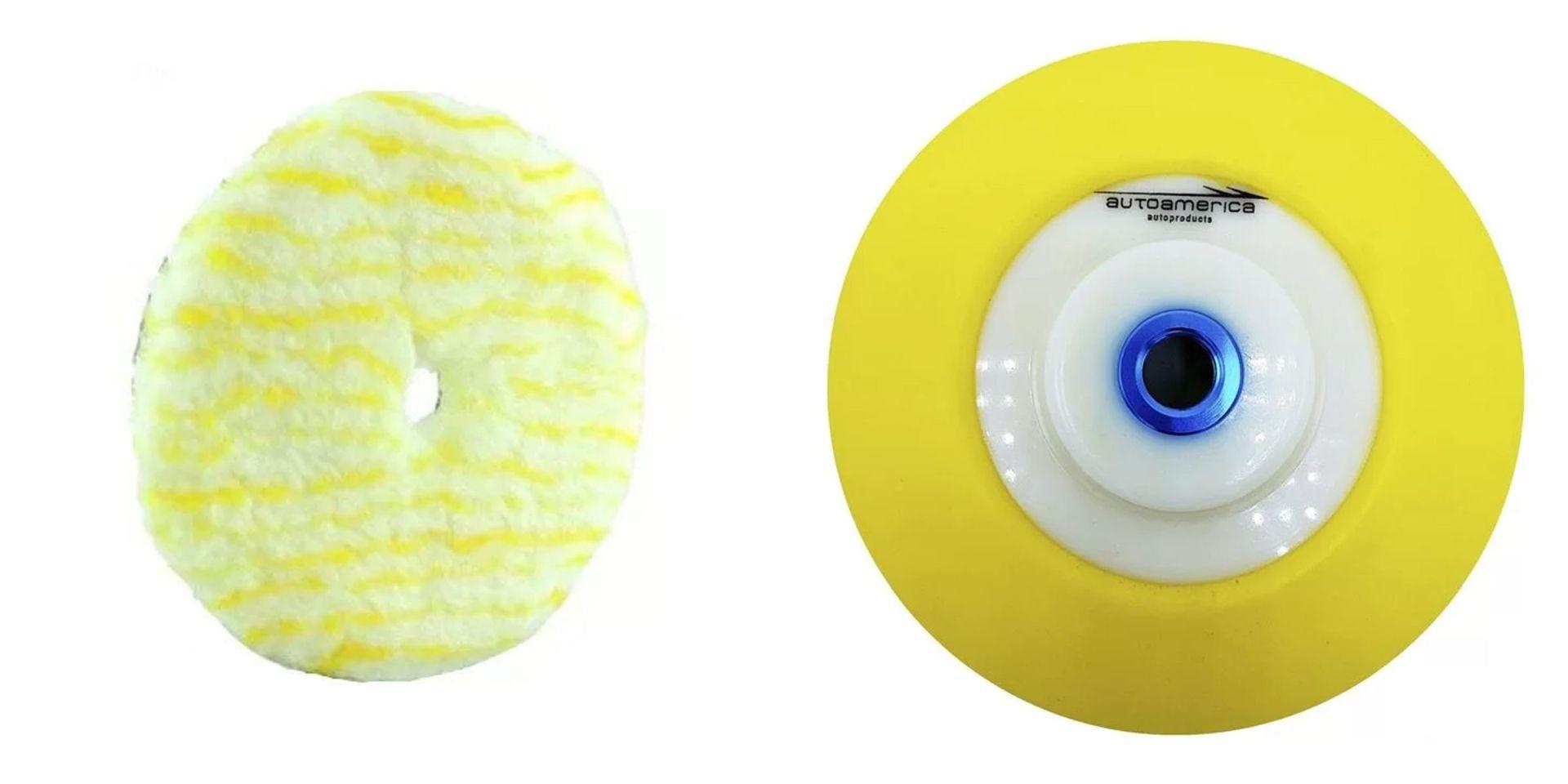 Kit Suporte com Velcro 6 pol + Boina De Lã 6 pol