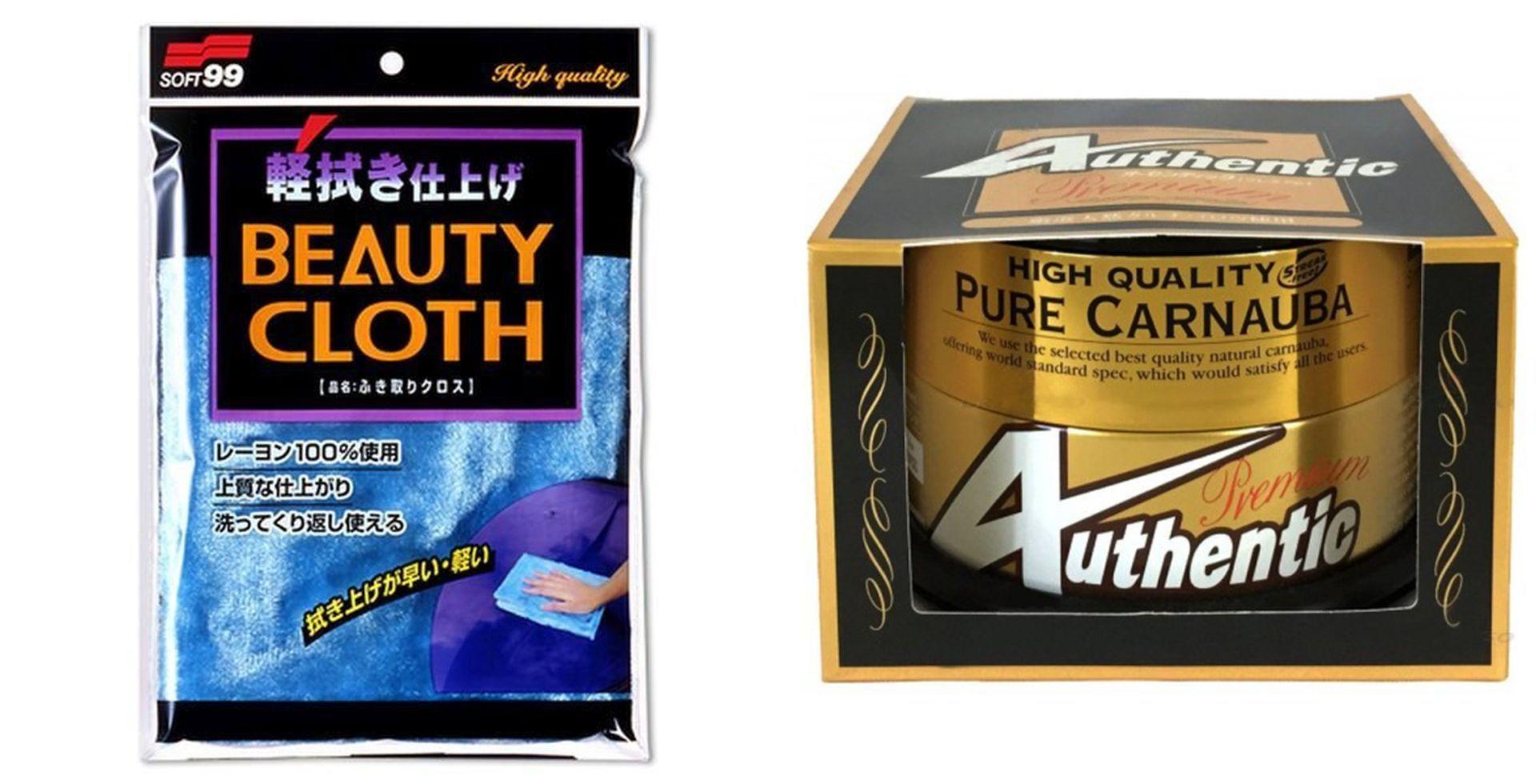 Kit Toalha Beauty Cloth 32x22cm+ Cera New Authentic 200g Soft99