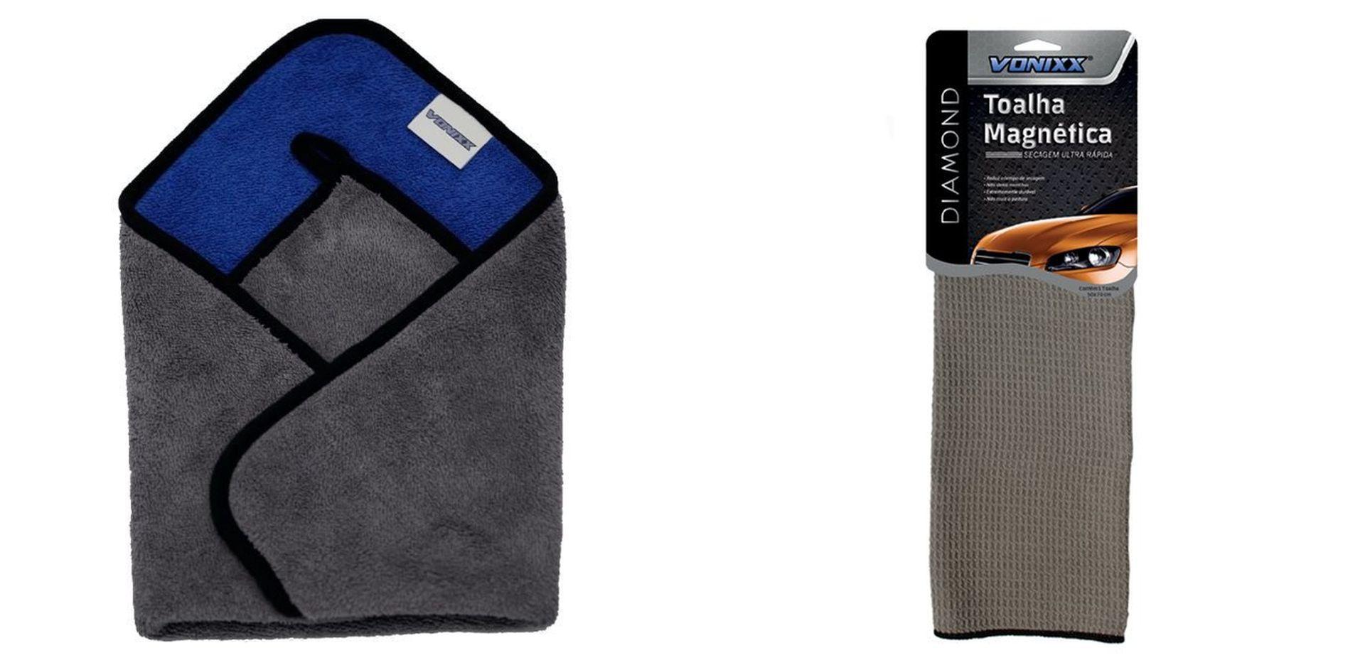 Kit Toalha Magnetica 50x70cm+ Toalha de Microfibra 40x40 Vonixx