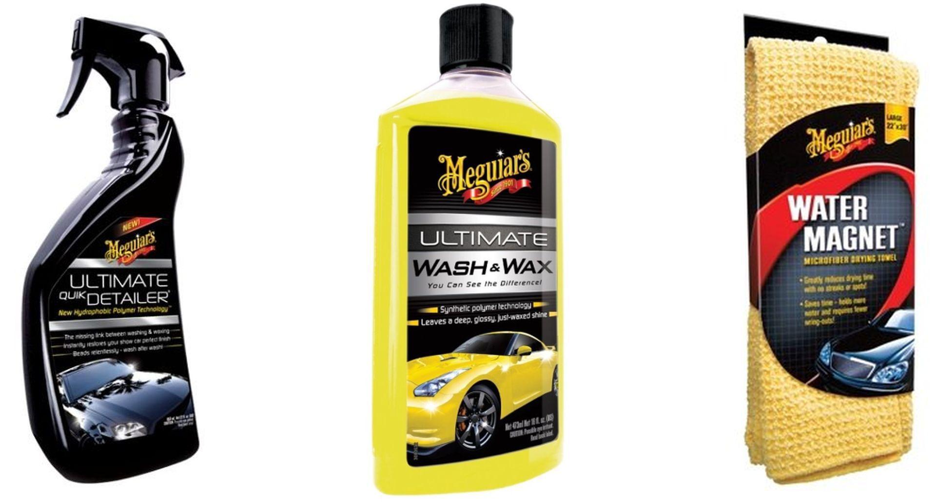 Kit Toalha Water Magnet+ Shampoo com Cera+ Abrilhantador Quik Detailer