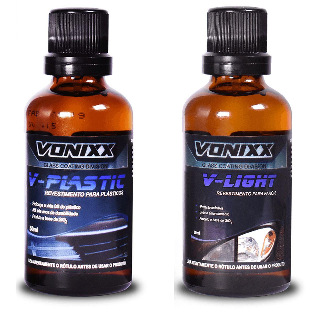 Kit Vitrificador V Plastic + Vitrificador V Light 50ml Vonixx
