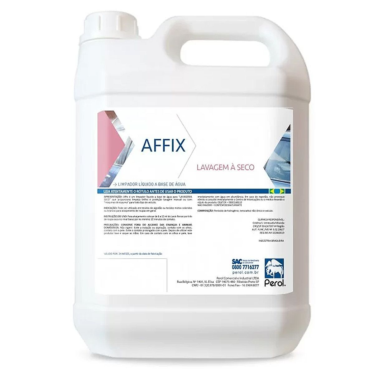 Lavagem a Seco Super Concentrado 1-40 Affix 5 Litros Perol