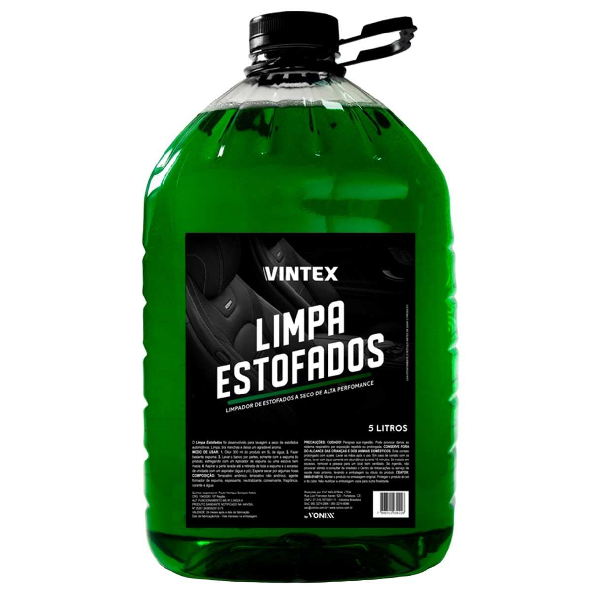 Limpa Estofados 5 Litros Vintex By Vonixx