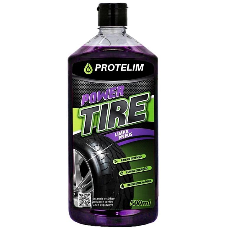 Limpa Pneus Power Tire 500ml Protelim