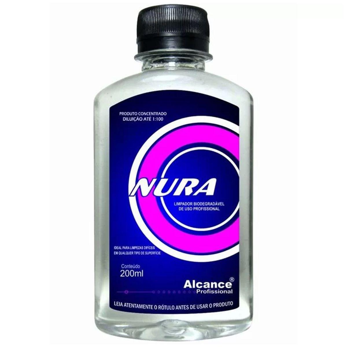 Limpador Biodegradável Super Concentrado Nura 200ml Alcance