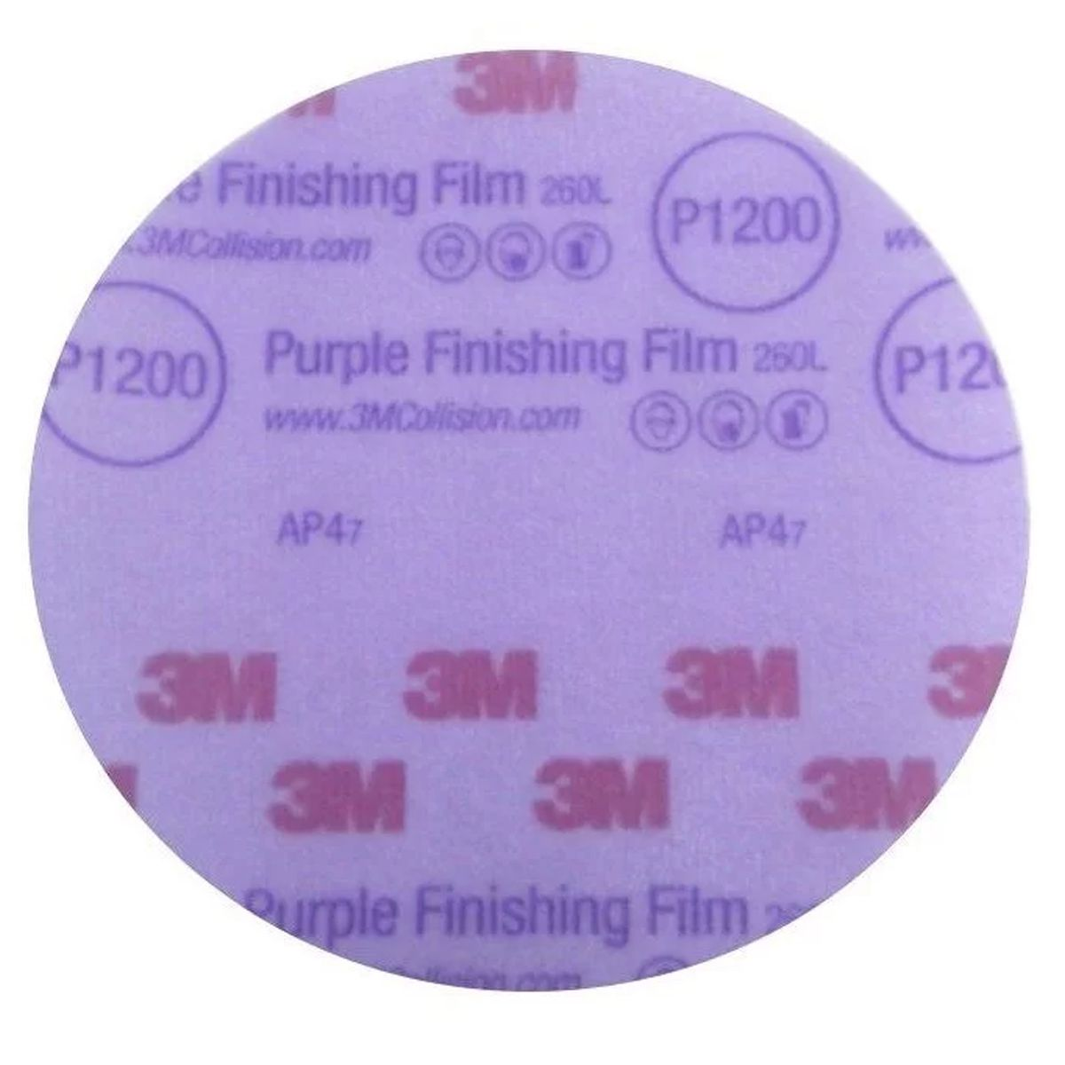 Lixa Disco P1200 - 6 pol Linha Purple Finishing Film 3M
