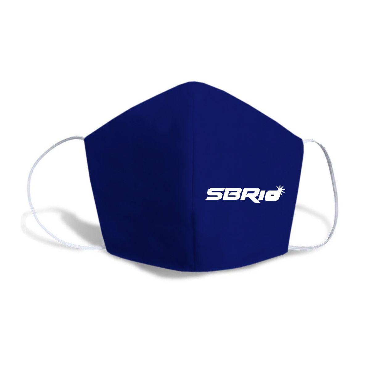 Máscara Caseira Azul Logo SBRIO