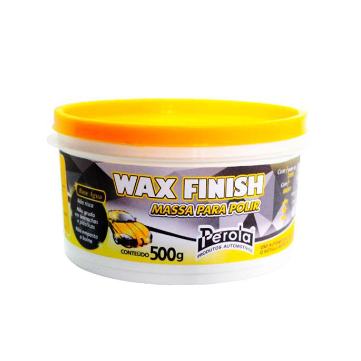 Massa para Polir Wax Finish 500g Perola