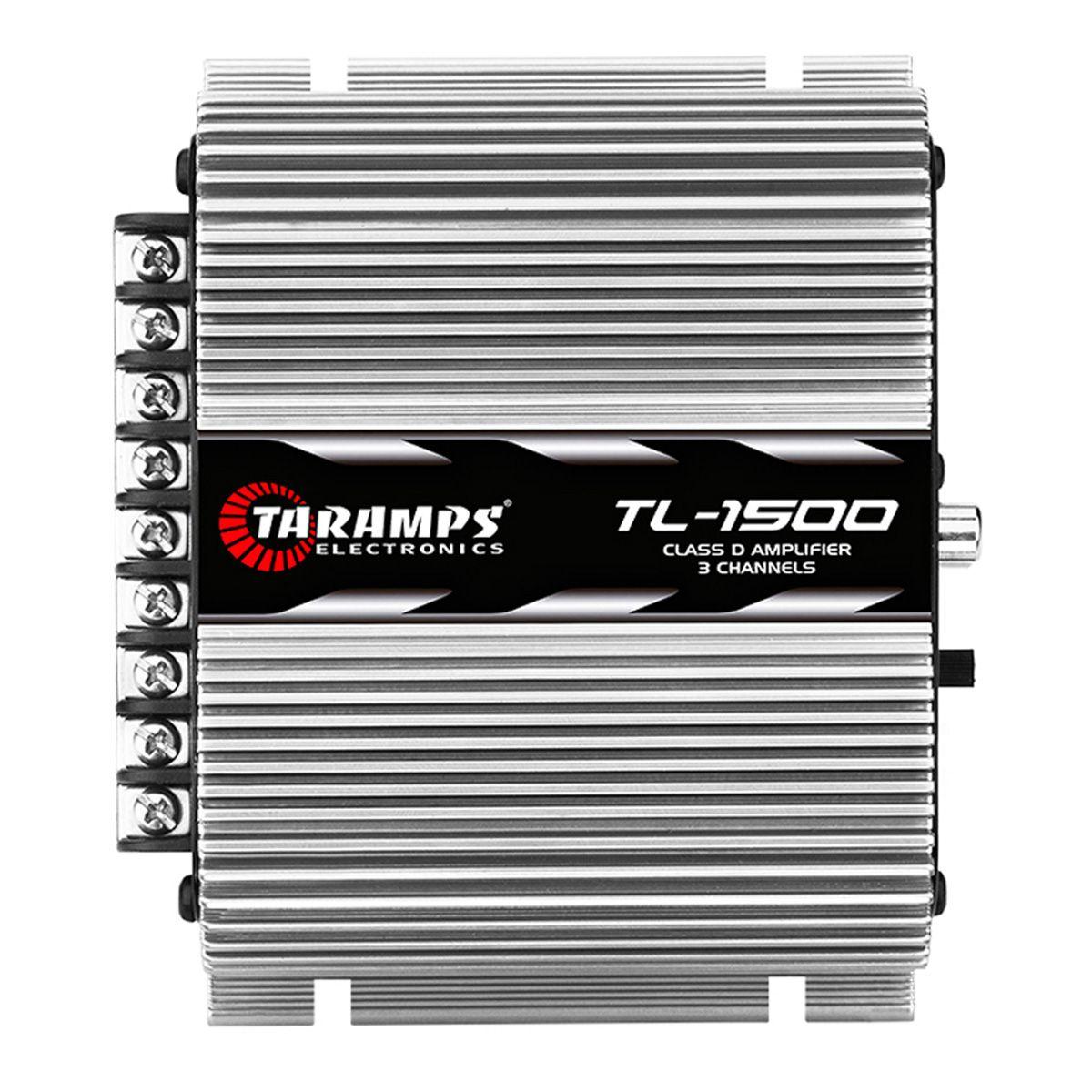 Módulo Amplificador TL 1500 Taramps 2 canais 95W 2 OHMS 1 canal 200W 4 OHMS