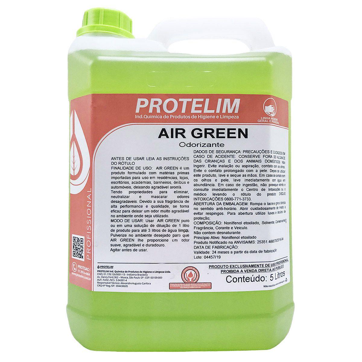 Odorizante Air Green +Odorizante Air Blue 5L Protelim