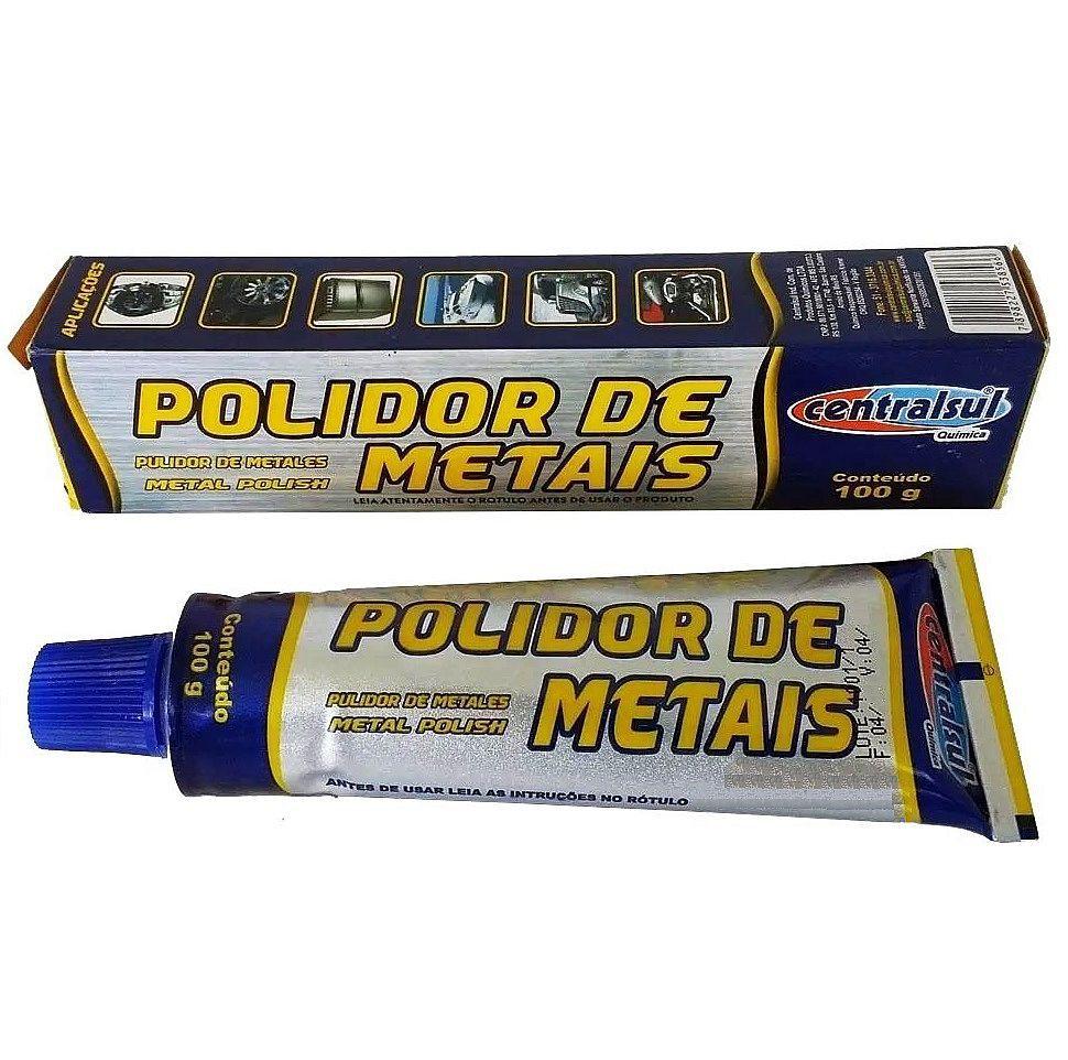Polidor de Metais Metal Polish 100g  Centralsul