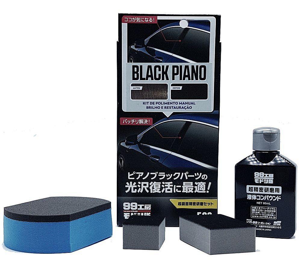 Nano Polidor Manual para Black Piano e Acrilicos 80ml Soft99