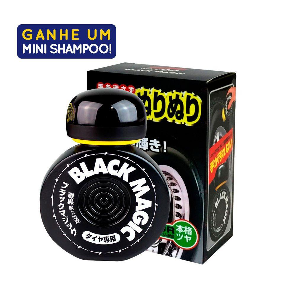Pretinho Black Magic Cleaner 150ml Com Amostra Shampoo White Gloss 60ml Soft99