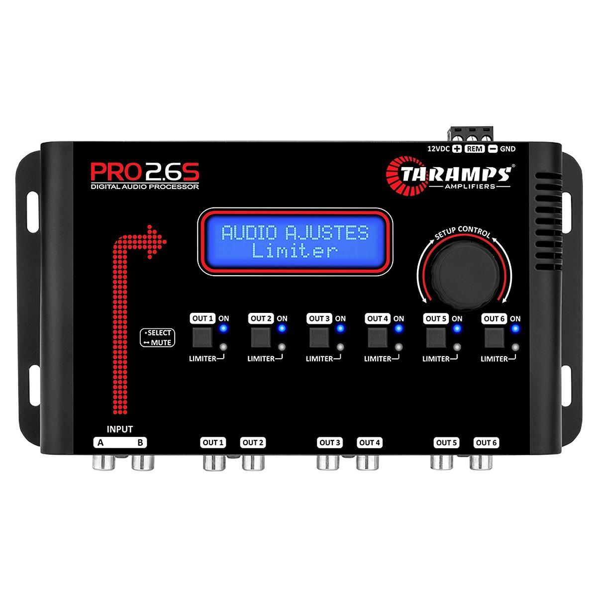 Processador de Áudio Digital Taramps Pro 2.6S 6 Saídas