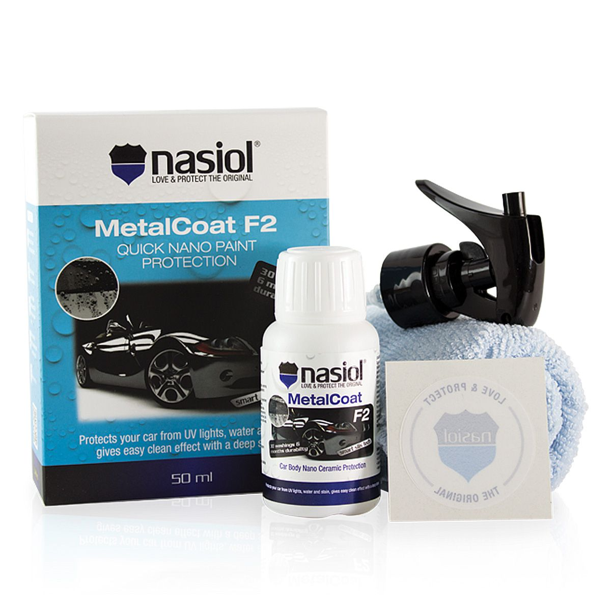 Protetor de Pintura, Plásticos e Metais Metalcoat  F2 50ml Nasiol