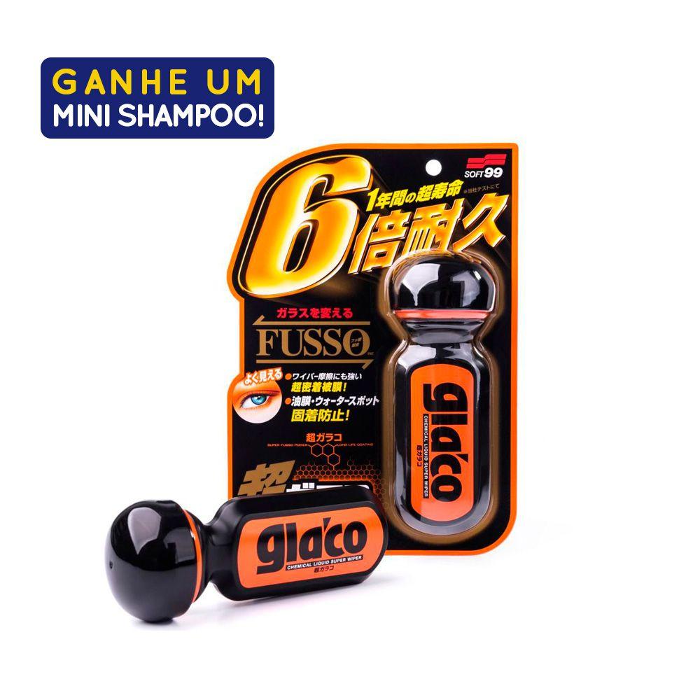 Repelente de Agua Ultra Glaco Fusso  70ml Com Amostra Shampoo White Gloss 60ml Soft99