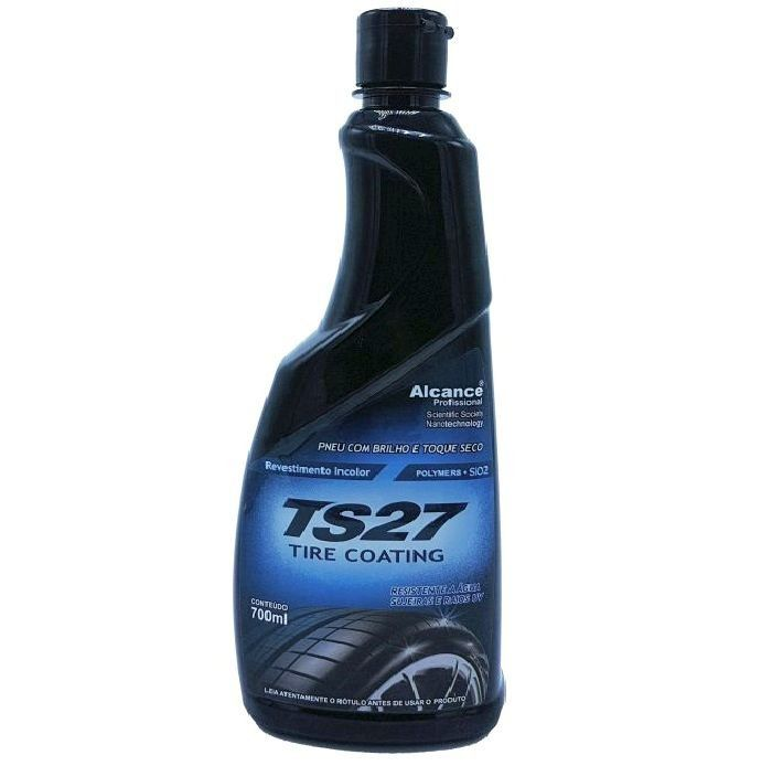 Revestimento Incolor Ts27 Tire Coating Para Pneus 700ml Alcance