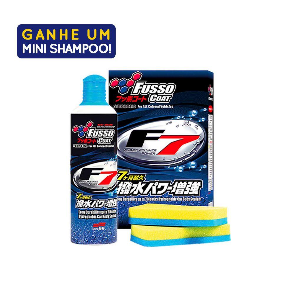 Selante de Longa Duração Fusso Coat F7 300ml Com Amostra Shampoo White Gloss 60ml Soft99