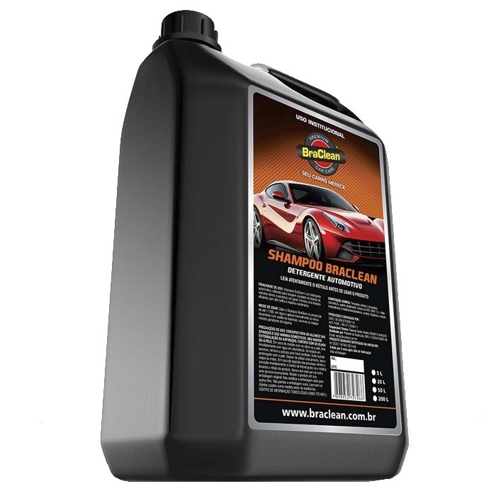 Shampoo Automotivo Neutro Car Care 1-100 BraClean 5 Litros