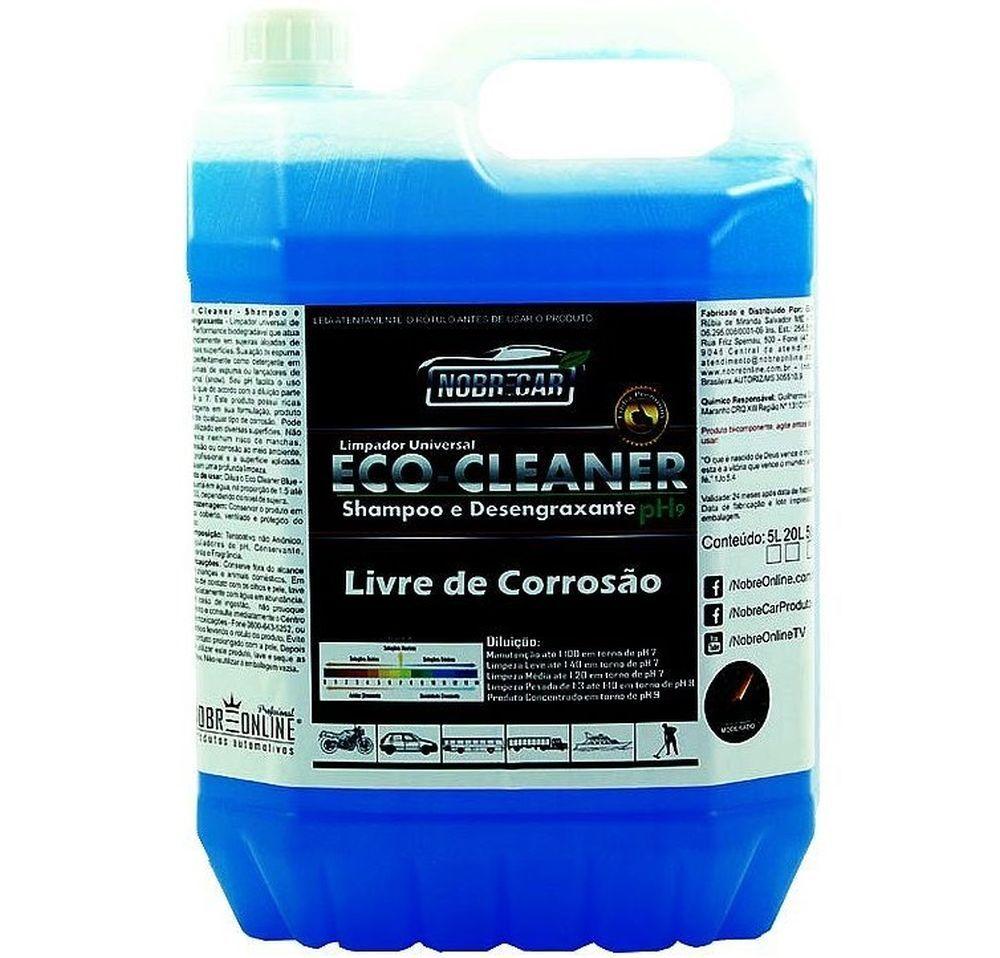 Shampoo e Desengraxante Eco  Cleaner Blue Espuma 5 Litros Nobre Car