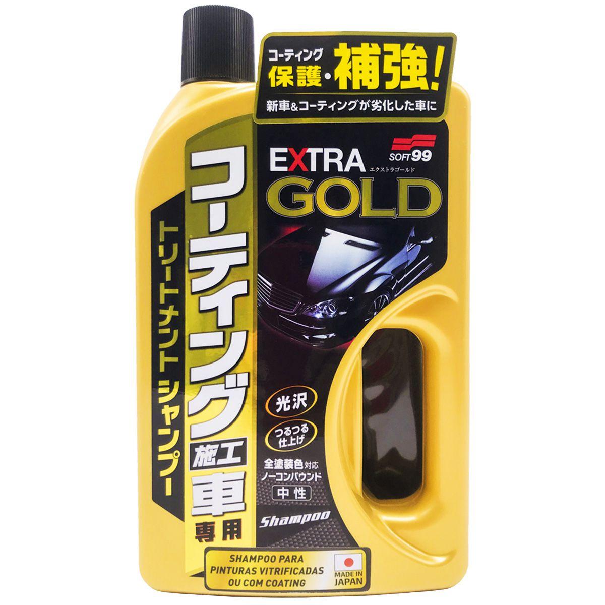 Shampoo Extra Gold para Pinturas Vitrificadas ou Coating 750ml Soft99