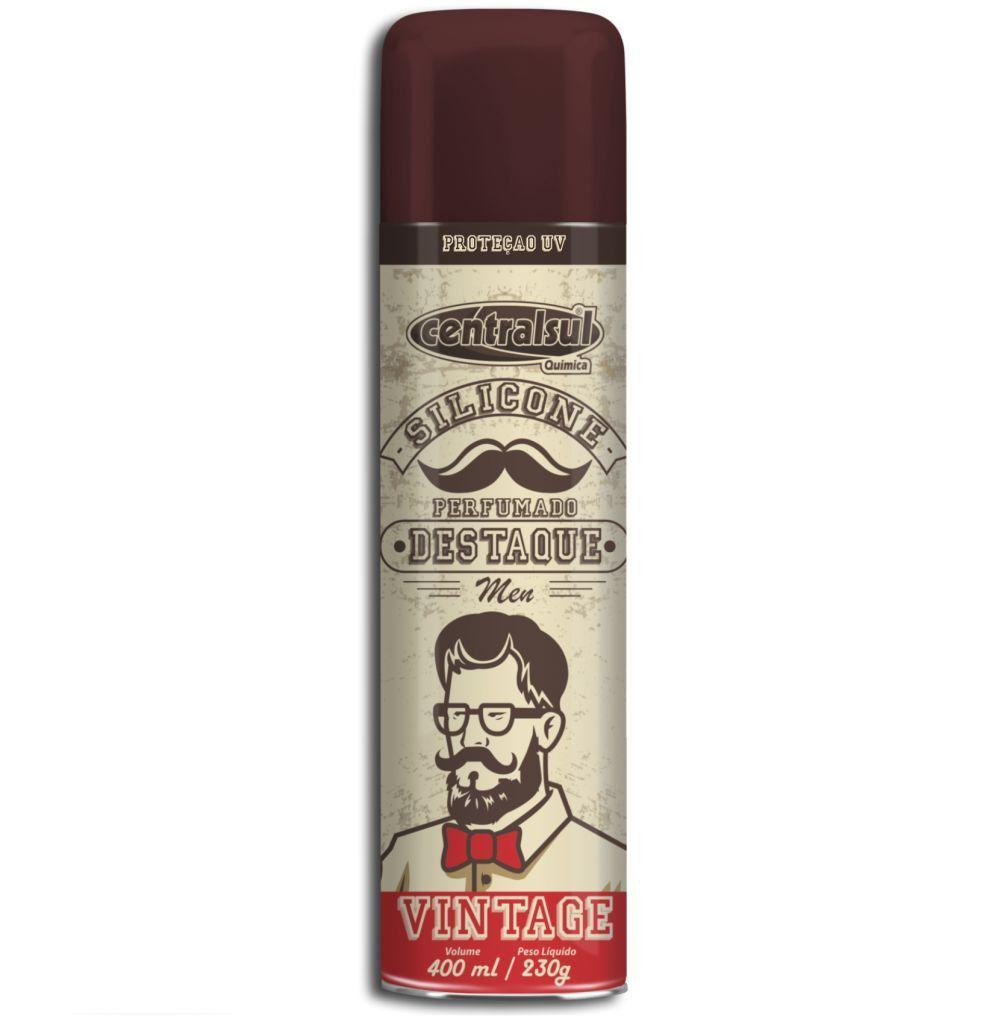 Silicone Perfumado em Spray Vintage Destaque 400ml Centralsul