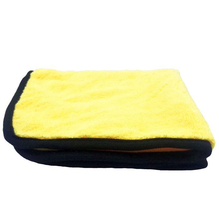 Toalha de Microfibra Amarela 380Gsm 38x38 Mandala