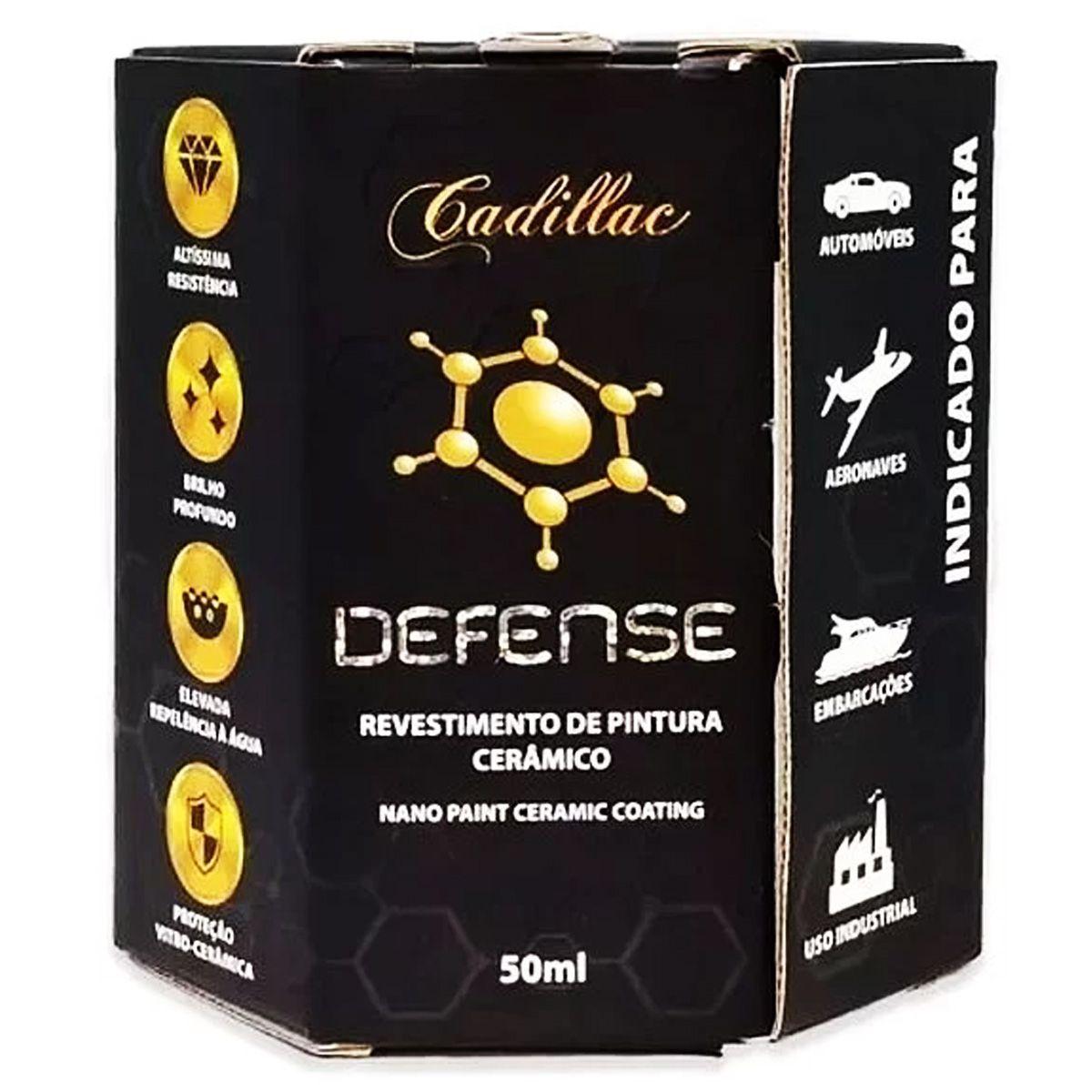 Vitrificador de Pintura Cerâmico Defense 50ml Cadillac