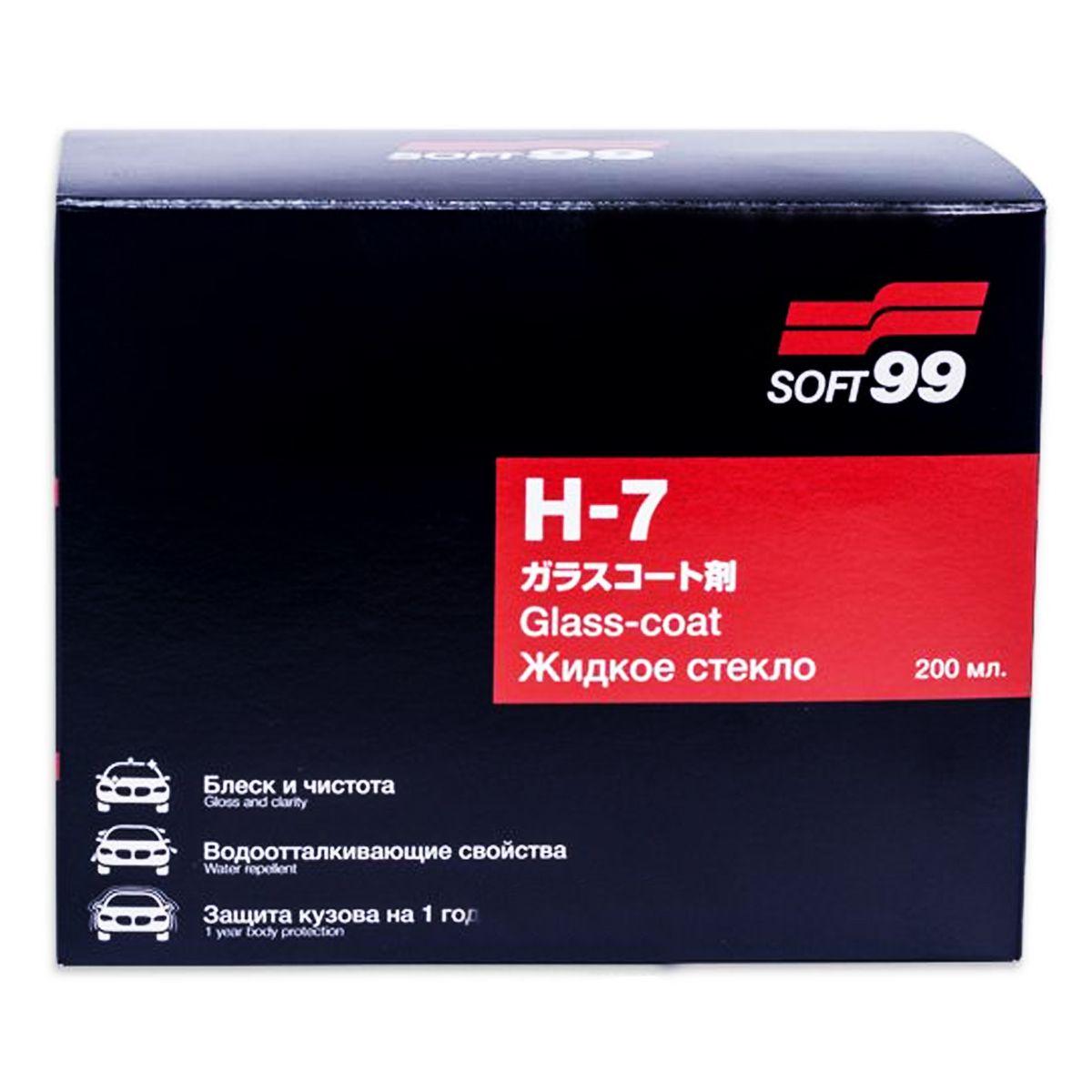 Vitrificador de Pinturas H7 Coating Glass Coat 200ml Soft99