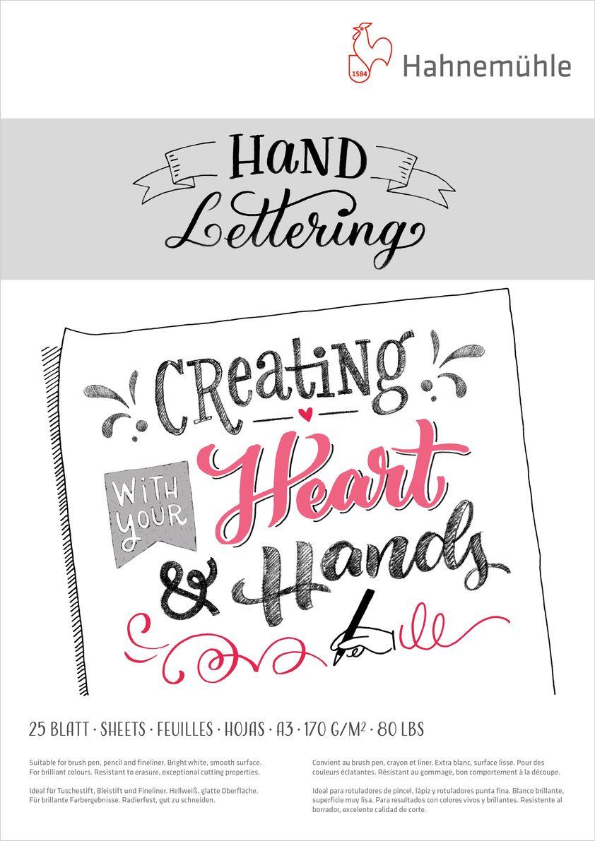 10628992 Hand Lettering 170g A3 Bloco de Lettering